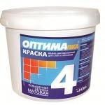 Краска для стен и потолков ОПТИМА-4 1,4 кг. Нова