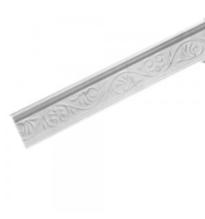 Плинтус потолочный Р-04 Белый с рисунком 32*32 1м