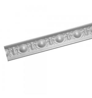 Плинтус потолочный Р-03 Белый с рисунком 32*32 1м(50шт уп)