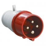 Вилка 014 16А 3Р+РЕ 380В IP44 (014)