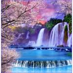 ФОТОобои 196*201см Хрустальные водопады 6л