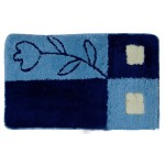 Коврик для ванной 50*80 см голубой (49124)