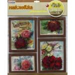 Наклейка декор.68*31 см FRB 1007 Цветы