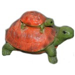 Фигурка садовая Черепаха и черепашка (28*16см)