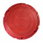 Люк полимерный малый ЛМ 1,5т красный