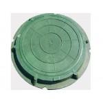 Люк полимерный малый ЛМ 1,5т зеленый