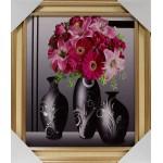 Картина 36*42 со стразами Букет цветы