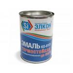 Эмаль термостойкая серебристо-серая 0,8 кг ЭЛКОН/12