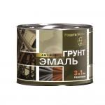 Грунт-эмаль по ржавчине 3в1 черная/2,7кг/Радуга/6шт