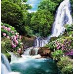 ФОТОобои 196*201см Цветущий водопад 6л
