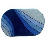 Коврик для ванной 60*90 см МК0006 голубой