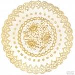 Салфетка ажурная золото 38см