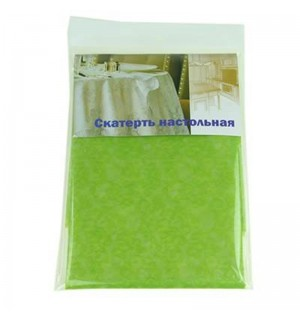 Скатерть 130-180см. (Е-1 зеленый) WT-608