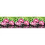 Панель отделочн. АБС  Орхидея розовая 600*3000 пластик