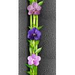 Панель ПВХ Орхидея 1 цветы на черном №351 27*25*10мм