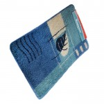 Коврик для ванной 50*80 см лист синий