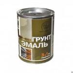 Грунт-эмаль по ржавчине 3в1 черная/1,9л/Радуга/6шт