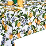 Клеенка Декорама  123А тк /1,4м*20м/ лимоны на белом