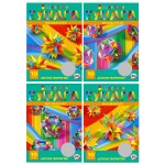 Цветная бумага 10л 10 цв А4 BG 1934 Фантазия мелов. в папке/100