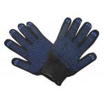 Перчатки ПВХ с апликатором черные 4 нит 10  (упак.5пар) ВИХРЬ