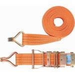 Ремень багажный с крюками, 8*0,038м, храповой механизм STELS (54372)