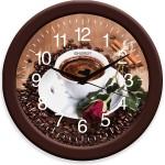 Часы настенные круглые Energy EC-101 Кофе 27,5*3,8см