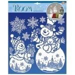Наклейки Рождественнские снеговички RDX 8910