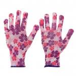 Перчатки нейлоновые Цветок с обливом