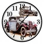 Часы настенные круглые МДФ Авто