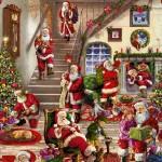 Клеенка Декорама  025А тк /1,4м*20м/ Новый год. Дед Мороз