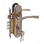 Ручка+замок LH 7036-Х11АВ бронза