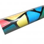 Пленка с/м 0,45*8м витражи цветные фигуры DEKORON 002РС (9022D)