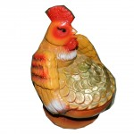 Фигурка садовая Курица с золотом