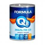 Эмаль ПФ-115 черная 0,9кг/14шт FORMULA Q8