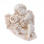 Фигурка садовая Ангел с розочкой (50*21)