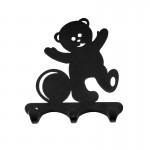 Вешалка листовая Мишка черный ВН306Ч
