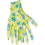 Перчатки садовые облитые зеленые Palisad 67743, 67741