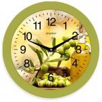 Часы настенные круглые Energy EC-100 Оливки 27,5*3,8см