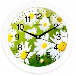 Часы настенные круглые Energy EC-98 Ромашки 27,5*3,8см