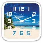 Часы настенные квадратные Energy EC-99 Пляж 24,5*3,9см