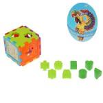 Игрушка логическая-сортер Куб с цифрами и часами 474146