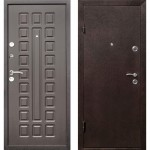 Дверь мет. Виктория (850мм) левая Металлик черный /вн.венге