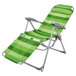 Кресло-шезлонг К3 с подножкой (зеленый)