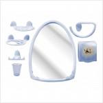 """Набор пластм. для ванной комнаты """"Аква"""" №2 М1323 голуб"""