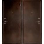 Дверь мет. Практик (880*2066R) правая Антик медь мет/мет