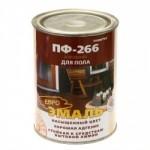 Эмаль ПФ-266 красно-коричневая 20кг/4шт FARBITEX