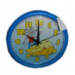 Часы настенные круглые D24,5см пластик МЫШОНОК