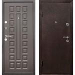 Дверь мет. Виктория (960мм) левая Металлик черный /вн.венге