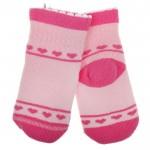 Носки детские плюшевые размер 12-14 цвет розовый  1239099