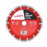 Диск алмазный 180*22,2 мм сегментный сухой рез LOM